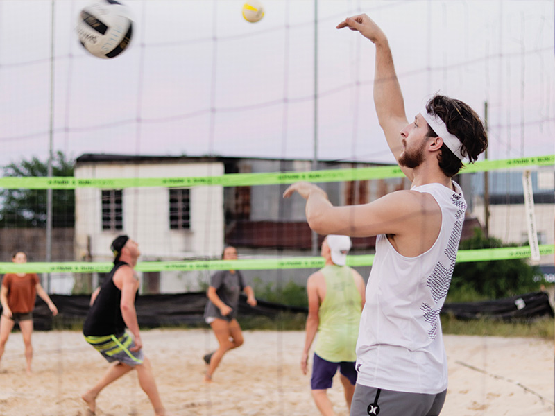 sand volleyball activity